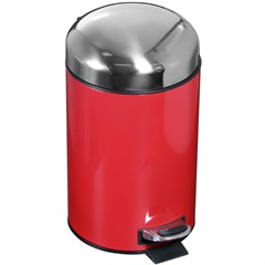 Lixeira Inox 3 Litros Vermelha - Atlas
