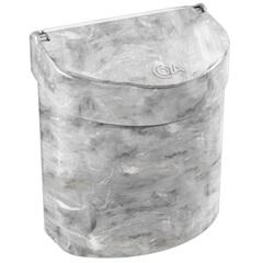 Lixeira para Pia Glass 2,7 Litros Mármore Branco - Coza