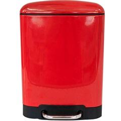Lixeira Retangular com Cesto Removível 6 Litros Vermelha - Casanova