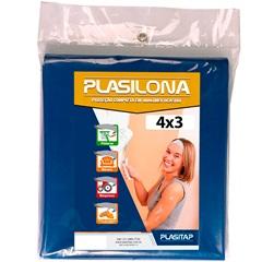 Lona Plástica Plasilona 4x3m Azul - Plasitap