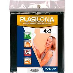 Lona Plástica Plasilona 4x3m Preta - Plasitap