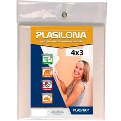 Lona Plástica Plasilona 4x3m Transparente - Plasitap