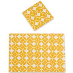 Lugar Americano em Algodão com Guardanapo Vision 48x33cm Amarelo - Casa Etna