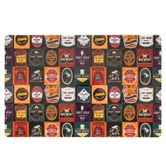 Lugar Americano Retangular em Pvc Print Beer Stamps 28,5x44cm - Copa & Cia