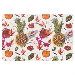 Lugar Americano Retangular Flex Summer Fruits 28,5x44cm - Copa & Cia