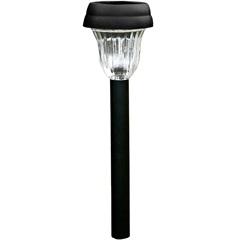 Luminária Balizadora Decorativa em Abs Solar Preta - Ecoforce