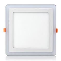 Luminária de Led de Embutir Quadrado 3 Estágios Downlight 12w+6w Bivolt Branca 3000-6500k - Elgin