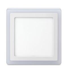 Luminária de Led de Sobrepor Quadrada 3 Estágios Downlight 18w+6w Bivolt Branca 3000-6500k - Elgin
