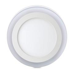 Luminária de Led de Sobrepor Redonda 3 Estágios Downlight 12w+6w Bivolt Branca 6500k
