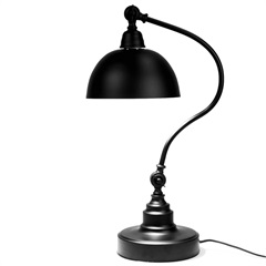 Luminária de Mesa em Metal Office Classique Preta - Casa Etna