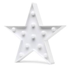 Luminária de Mesa Led Infantil Decorativa Estrela Branca - Elgin