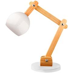 Luminária de Mesa para 1 Lâmpada Bivolt Bola Branca
