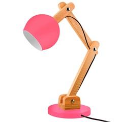 Luminária de Mesa para 1 Lâmpada Bivolt Bola Raspberry - Casanova