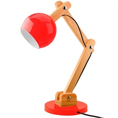 Luminária de Mesa para 1 Lâmpada Bivolt Bola Vermelha - Casanova