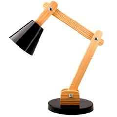 Luminária de Mesa para 1 Lâmpada Bivolt Cone Preta