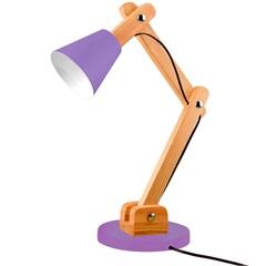 Luminária de Mesa para 1 Lâmpada Bivolt Cone Ultra Violet - Casanova