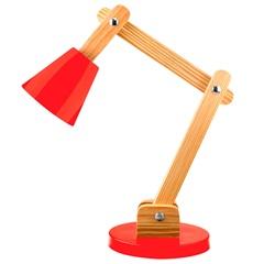 Luminária de Mesa para 1 Lâmpada Bivolt Cone Vermelha - Casanova