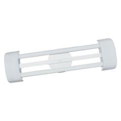 Luminária de Sobrepor com 2 Lâmpadas Led Tube Barcelona 10w Bivolt 6500k 65x19cm Branca - Tualux