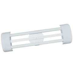Luminária de Sobrepor com 2 Lâmpadas Led Tube Barcelona 20w Bivolt 6500k 126x19cm Branca - Tualux