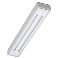 Luminária de Sobrepor com 2 Lâmpadas Led Tube Valência 10w Bivolt 6500k 65x10cm Transparente - Tualux