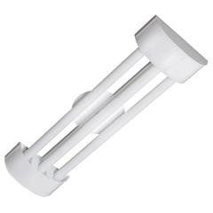 Luminária de Sobrepor com 3 Lâmpadas Led Tube Barcelona 10w Bivolt 6500k 65x19cm Branca - Tualux