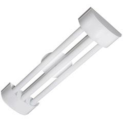 Luminária de Sobrepor com 3 Lâmpadas Led Tube Barcelona 20w Bivolt 6500k 126x19cm Branca - Tualux