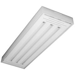 Luminária de Sobrepor com 3 Lâmpadas Led Tube Valência 10w Bivolt 6500k 65x20cm Transparente - Tualux