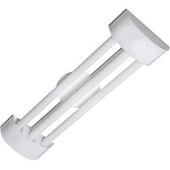 Luminária em Alumínio para 3 Lâmpadas Barcelona Led Tube 65x19cm Branca - Tualux