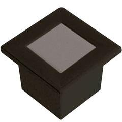 Luminária Embutida Quadrada em Alumínio 9,6cm Preta - Blumenau