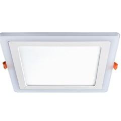 Luminária Painel de Led de Embutir Quadrada 3 Estágios Downlight 18w+6w Bivolt Branca 6500k Luz Bra