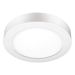 Luminária Painel de Led de Sobrepor Redonda Downlight 18w Bivolt Branca 2700k