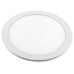 Luminária Painel de Led Redonda de Embutir 24w Bivolt Slim Branca 6500k - Bronzearte