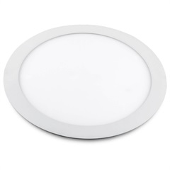 Luminária Painel de Led Redonda de Embutir 6w Bivolt Slim Branca 6500k - Bronzearte