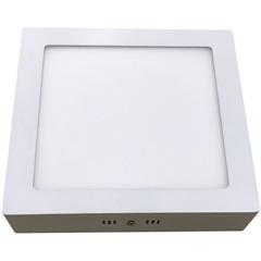 Luminária Painel Led de Sobrepor Quadrada Home 12w 3000k Bivolt Branca - Bronzearte