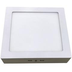 Luminária Painel Led de Sobrepor Quadrada Home 24w 3000k Bivolt Branca - Bronzearte