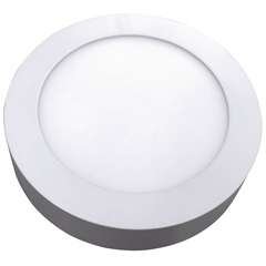 Luminária Painel Led de Sobrepor Redonda Home 18w 3000k Bivolt Branca - Bronzearte