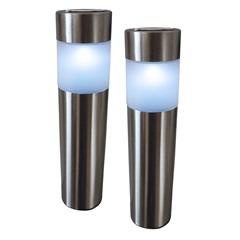 Luminária Solar Inox Kit com 2 Peças - DNI