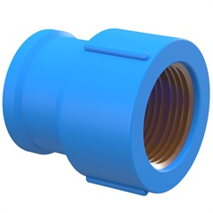 Luva Azul com Bucha de Latão 1/2''X20mm - Tigre