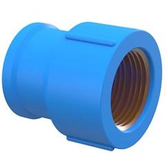 "Luva Azul com Bucha de Latão 25mm X 1/2"" - Tigre"