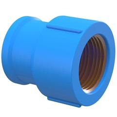 Luva Azul com Bucha de Latão 3/4''X25mm - Tigre
