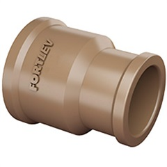 Luva de Redução em Pvc Soldável 25x20mm Marrom - Fortlev