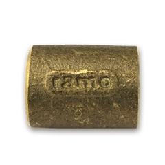 Luva em Latão com Solda 22x22mm Dourado - Ramo Conexões