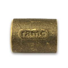 Luva em Latão com Solda 28x28mm Dourado - Ramo Conexões
