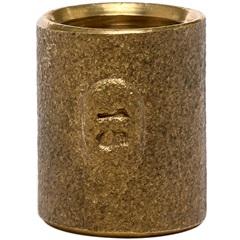 Luva em Latão Passante com Solda 15x15mm Dourada - Ramo Conexões