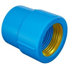 """Luva em Pvc Soldável com Bucha de Latão 25mmx1/2"""" Azul - Fortlev"""