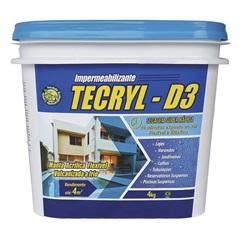 Manta Acrílica Impermeabilizante D-3 4kg Branca - Tecryl Impermeabilizantes