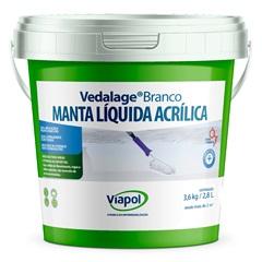Manta Líquida Acrílica Vedalage Branca 3,6kg - Viapol
