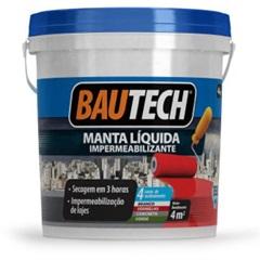 Manta Líquida Impermeabilizante Cinza 4kg - Bautech