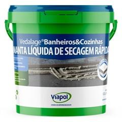 Manta Líquida Vedalage Banheiros E Cozinhas Branco 3 Litros - Viapol