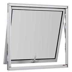 Maxim-Ar sem Grade em Alumínio Vidro Mini Boreal Una Branco 80x80cm - Casanova